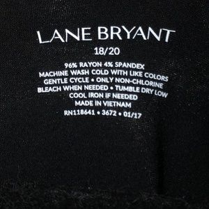 Lane Bryant Tops - Lane Bryant Black Tee |  Size 18/20